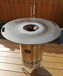 Feuerplatte für Feuertonne, Kugelgrill und Feuerhand Pyron