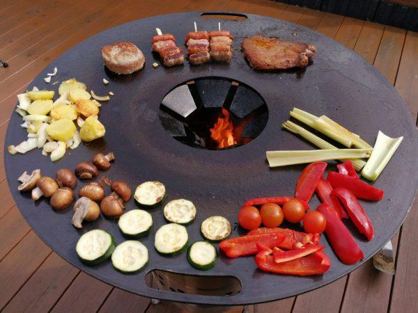 Feuerplatte für Feuertonne,Kugelgrill und Feuerhand Pyron