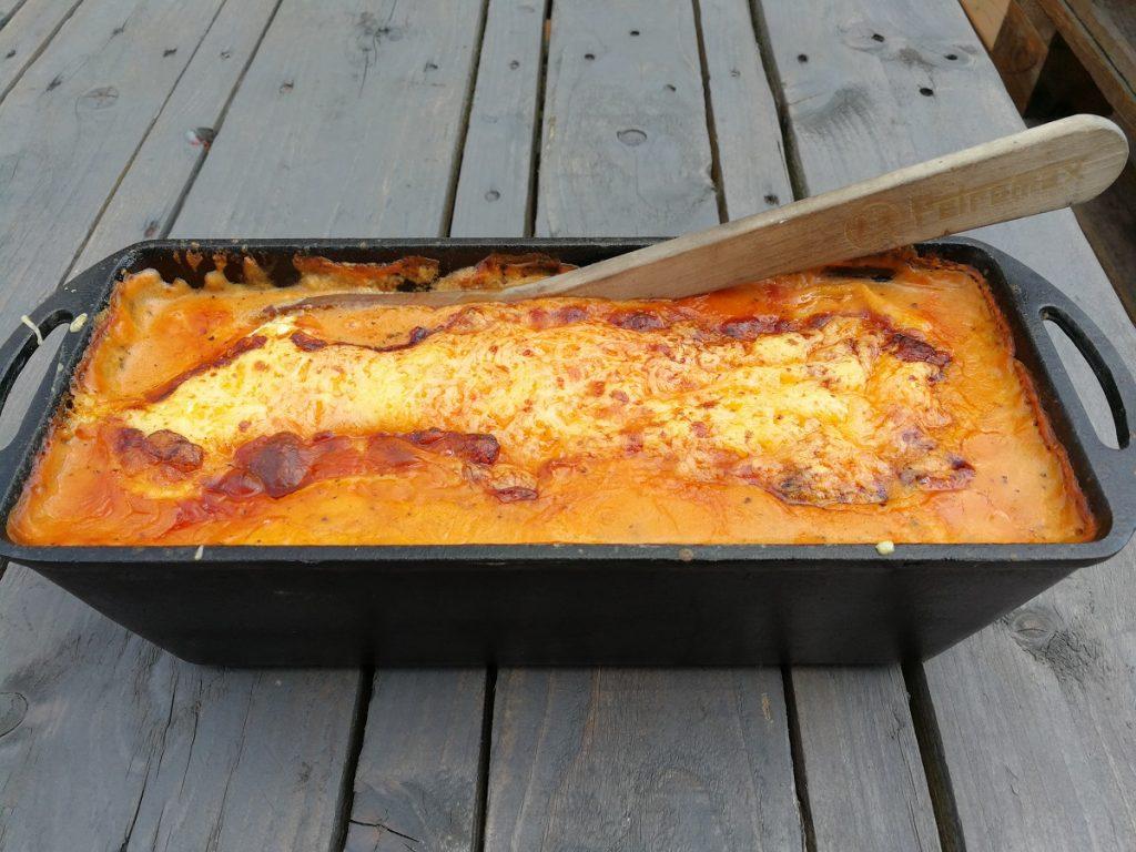 seelachs lasagne outdoor kochen l beck. Black Bedroom Furniture Sets. Home Design Ideas