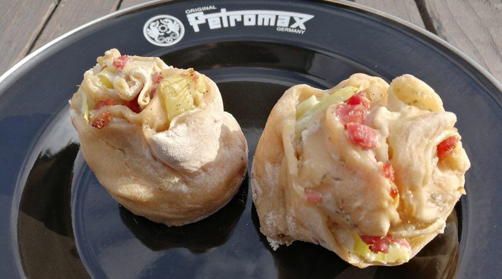 Flammkuchen-Schnecken aus der Petromax Muffinform mf6