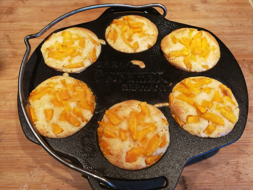 Kürbis-Muffins mit Aprikosenbutter