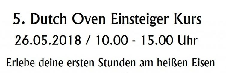 5. Dutch Oven Einsteiger-Kurs
