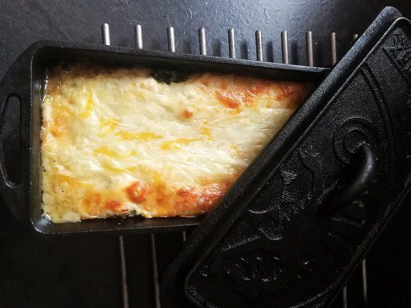 Spinat-Schafskäse-Lasagne