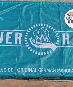 Feuerhand Meshbanner mit Logo