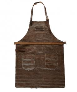 EUERMEISTER® Lederschürze in Antikleder Farbe Cognac mit Taschen
