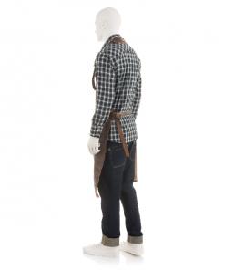 FEUERMEISTER® Lederschürze in Antikleder Farbe Braun mit Taschen