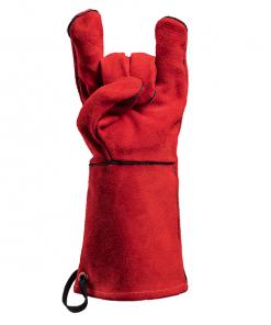 FEUERMEISTER® Premium BBQ Grillhandschuh aus rotem Leder