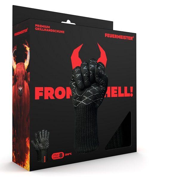 FEUERMEISTER® Premium BBQ Grillhandschuhe in Schwarz aus Aramid Nomex Faser