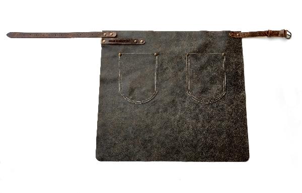 FEUERMEISTER® Premium-Halb-Lederschürze aus Antikleder Farbe anthrazit