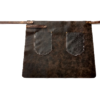 FEUERMEISTER® Premium-Halb-Lederschürze aus Antikleder Farbe braun