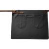 FEUERMEISTER® Premium-Halb-Lederschürze aus Nappaleder Farbe schwarz